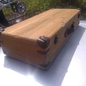 Custom made wood box with latches